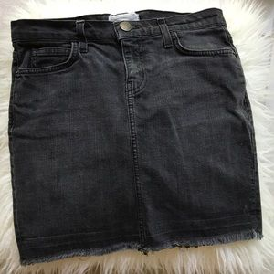 CURRENT/ELLIOT BLACK DENIM SKIRT SIZE 26